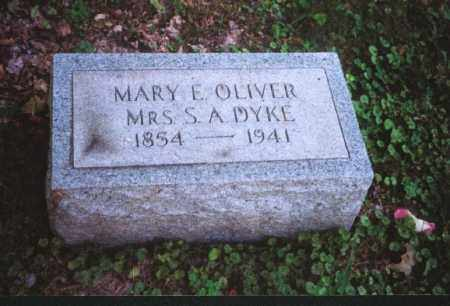 OLIVER DYKE, MARY E. - Meigs County, Ohio | MARY E. OLIVER DYKE - Ohio Gravestone Photos