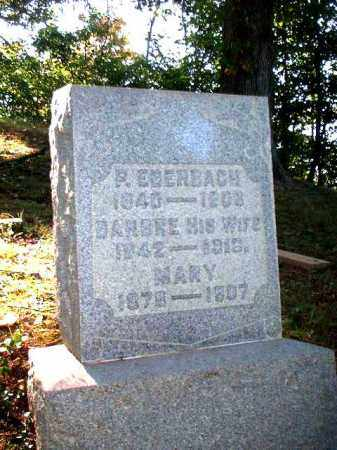 EBERBACH, BARBRE - Meigs County, Ohio | BARBRE EBERBACH - Ohio Gravestone Photos