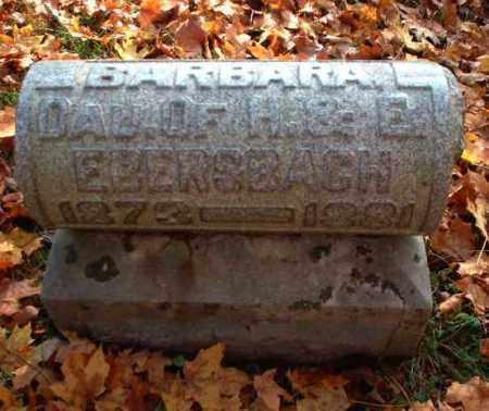 EBERSBACH, BARBARA - Meigs County, Ohio | BARBARA EBERSBACH - Ohio Gravestone Photos