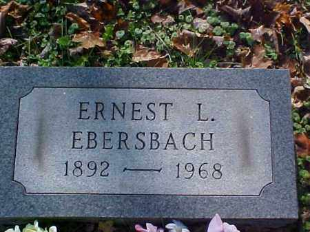 EBERSBACH, ERNEST L. - Meigs County, Ohio | ERNEST L. EBERSBACH - Ohio Gravestone Photos