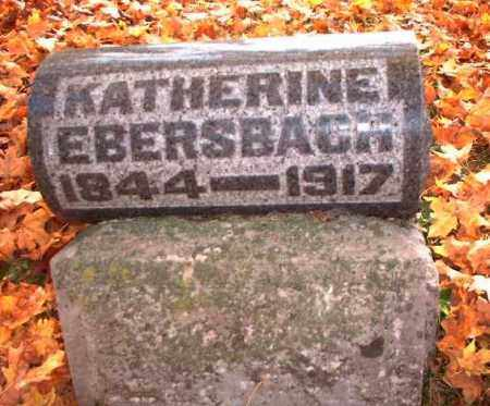 EBERSBACH, KATHERINE - Meigs County, Ohio | KATHERINE EBERSBACH - Ohio Gravestone Photos