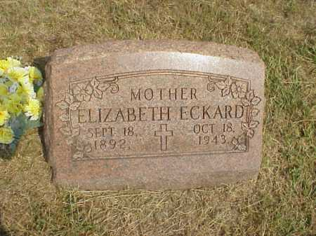 ECKARD, ELIZABETH - Meigs County, Ohio | ELIZABETH ECKARD - Ohio Gravestone Photos