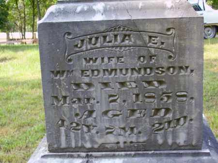 EDMUNDSON, JULIA [CLOSE VIEW] - Meigs County, Ohio | JULIA [CLOSE VIEW] EDMUNDSON - Ohio Gravestone Photos