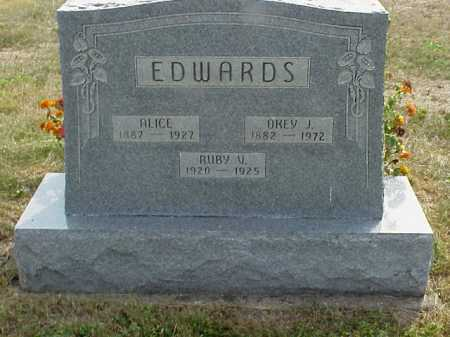 SHEETS EDWARDS, ALICE - Meigs County, Ohio | ALICE SHEETS EDWARDS - Ohio Gravestone Photos