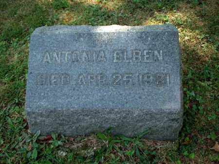 ELBEN, ANTONIA - Meigs County, Ohio | ANTONIA ELBEN - Ohio Gravestone Photos