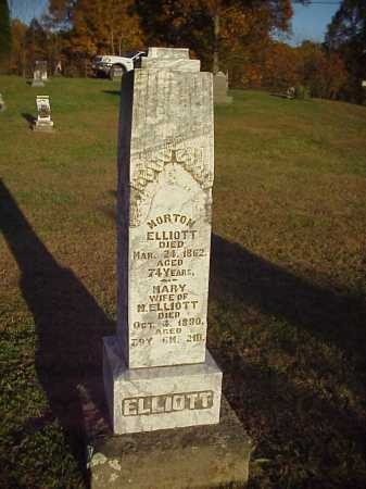 HILL ELLIOTT, MARY - Meigs County, Ohio | MARY HILL ELLIOTT - Ohio Gravestone Photos
