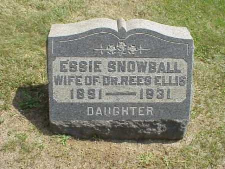 SNOWBALL ELLIS, ESSIE - Meigs County, Ohio | ESSIE SNOWBALL ELLIS - Ohio Gravestone Photos