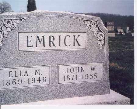 EMRICK, ELLA - Meigs County, Ohio | ELLA EMRICK - Ohio Gravestone Photos