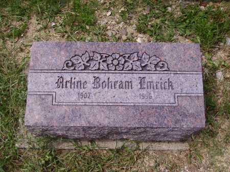 QUILLIN EMRICK, ARLINE BOHRAM - Meigs County, Ohio | ARLINE BOHRAM QUILLIN EMRICK - Ohio Gravestone Photos