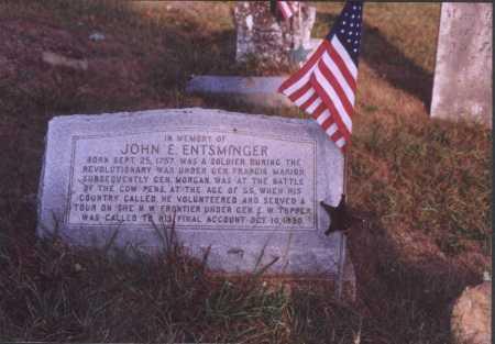 ENTSMINGER, JOHN E. - Meigs County, Ohio | JOHN E. ENTSMINGER - Ohio Gravestone Photos