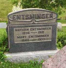 ENTSMINGER, NATHAN - Meigs County, Ohio | NATHAN ENTSMINGER - Ohio Gravestone Photos