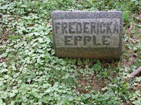 EPPLE, FREDERICKA - Meigs County, Ohio | FREDERICKA EPPLE - Ohio Gravestone Photos