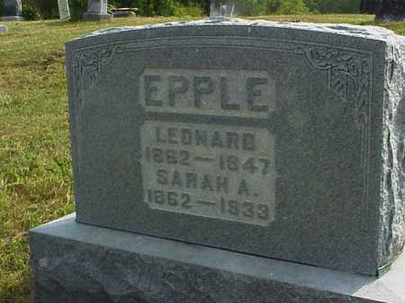 EPPLE, SARAH A. - Meigs County, Ohio | SARAH A. EPPLE - Ohio Gravestone Photos