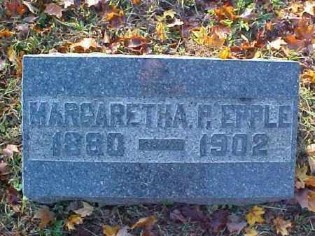 EPPLE, MARGARETHA P. - Meigs County, Ohio | MARGARETHA P. EPPLE - Ohio Gravestone Photos