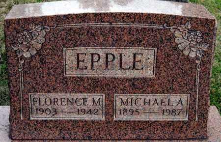 EPPLE, FLORENCE M. - Meigs County, Ohio | FLORENCE M. EPPLE - Ohio Gravestone Photos