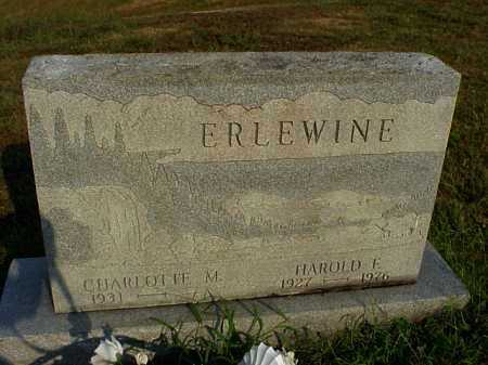 ERLEWINE, HAROLD F. - Meigs County, Ohio | HAROLD F. ERLEWINE - Ohio Gravestone Photos