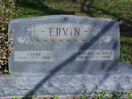 DAVIS ERVIN, MARGRETTA - Meigs County, Ohio | MARGRETTA DAVIS ERVIN - Ohio Gravestone Photos