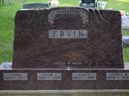 ERVIN, NANCY - Meigs County, Ohio | NANCY ERVIN - Ohio Gravestone Photos