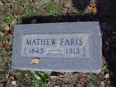 FARIS, MATHEW - Meigs County, Ohio | MATHEW FARIS - Ohio Gravestone Photos