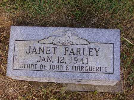 FARLEY, JANET - Meigs County, Ohio | JANET FARLEY - Ohio Gravestone Photos