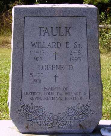 FAULK, LOISENE D. - Meigs County, Ohio | LOISENE D. FAULK - Ohio Gravestone Photos