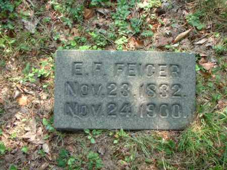 FEIGER, E.F. - Meigs County, Ohio | E.F. FEIGER - Ohio Gravestone Photos