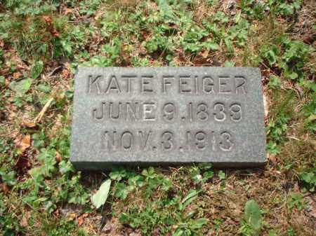 FEIGER, KATE - Meigs County, Ohio | KATE FEIGER - Ohio Gravestone Photos