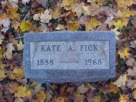 FICK, KATE A. - Meigs County, Ohio | KATE A. FICK - Ohio Gravestone Photos