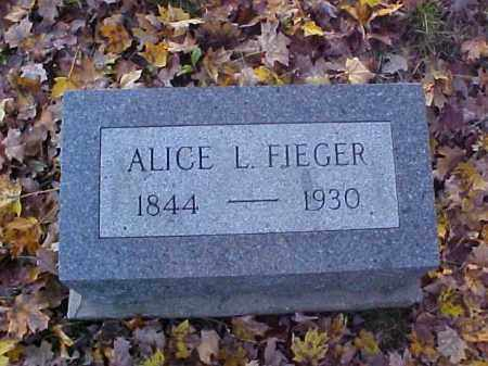 FIEGER, ALICE L. - Meigs County, Ohio | ALICE L. FIEGER - Ohio Gravestone Photos