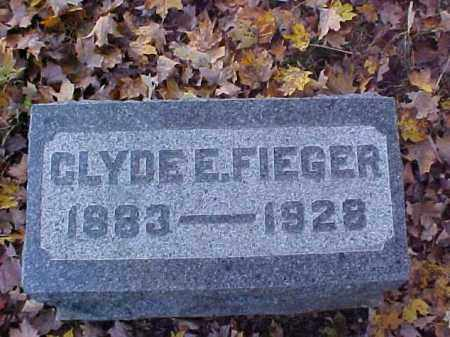 FIEGER, CLYDE E. - Meigs County, Ohio | CLYDE E. FIEGER - Ohio Gravestone Photos