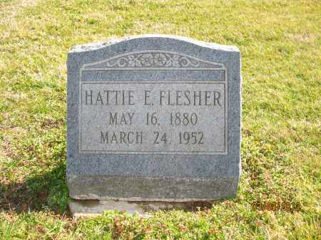 FLESHER, HATTIE E - Meigs County, Ohio | HATTIE E FLESHER - Ohio Gravestone Photos