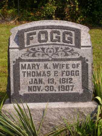 FOGG, MARY K. - Meigs County, Ohio | MARY K. FOGG - Ohio Gravestone Photos