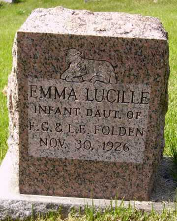 FOLDEN, EMMA LUCILLE - Meigs County, Ohio | EMMA LUCILLE FOLDEN - Ohio Gravestone Photos