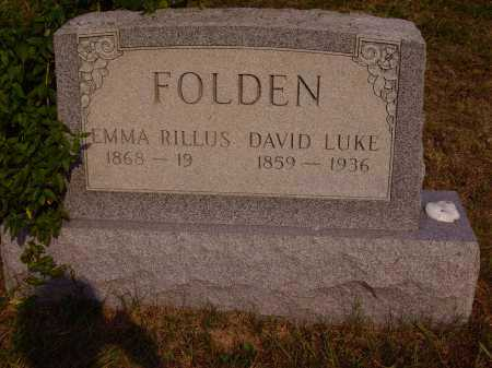 WISEMAN FOLDEN, EMMA RILLUS - Meigs County, Ohio | EMMA RILLUS WISEMAN FOLDEN - Ohio Gravestone Photos