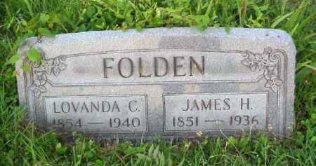 FOLDEN, JAMES H. - Meigs County, Ohio | JAMES H. FOLDEN - Ohio Gravestone Photos