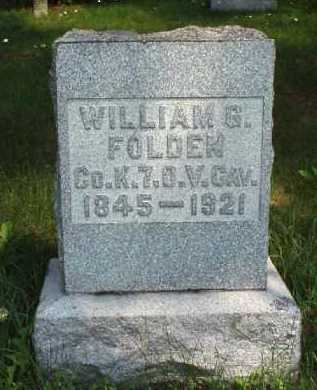 FOLDEN, WILLIAM G. - Meigs County, Ohio | WILLIAM G. FOLDEN - Ohio Gravestone Photos
