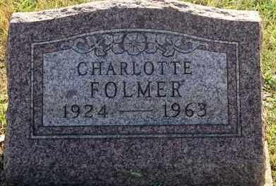 FOLMER, CHARLOTTE - Meigs County, Ohio | CHARLOTTE FOLMER - Ohio Gravestone Photos