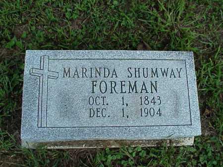 SHUMWAY FOREMAM, MARINDA - Meigs County, Ohio | MARINDA SHUMWAY FOREMAM - Ohio Gravestone Photos