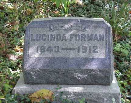FORMAN, LUCINDA - Meigs County, Ohio | LUCINDA FORMAN - Ohio Gravestone Photos