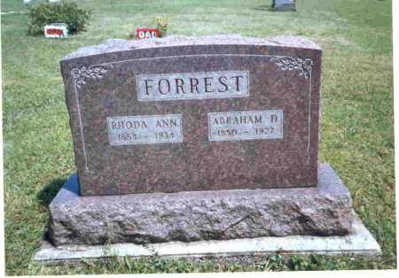 BRATTON FORREST, RHODA ANN - Meigs County, Ohio | RHODA ANN BRATTON FORREST - Ohio Gravestone Photos
