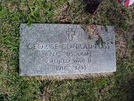FOSS, GEORGE CONRAD - Meigs County, Ohio | GEORGE CONRAD FOSS - Ohio Gravestone Photos