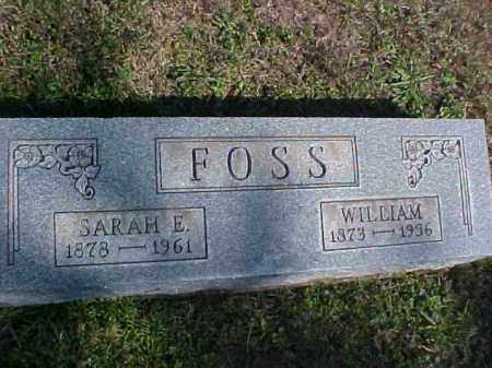 FOSS, SARAH E. - Meigs County, Ohio | SARAH E. FOSS - Ohio Gravestone Photos
