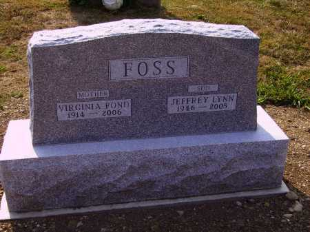 FOSS, VIRGINIA - Meigs County, Ohio | VIRGINIA FOSS - Ohio Gravestone Photos