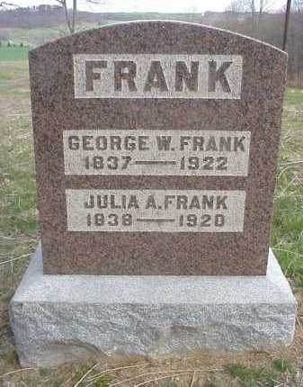 FRANK, GEORGE W. - Meigs County, Ohio | GEORGE W. FRANK - Ohio Gravestone Photos