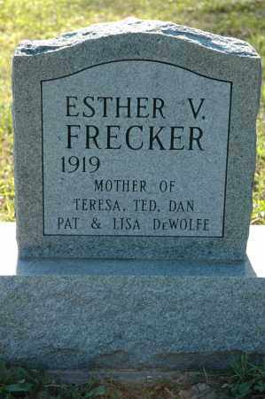 FRECKER, ESTHER VIRGINIA - Meigs County, Ohio | ESTHER VIRGINIA FRECKER - Ohio Gravestone Photos