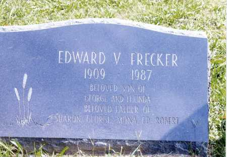 FRECKER, EDWARD V. - Meigs County, Ohio | EDWARD V. FRECKER - Ohio Gravestone Photos