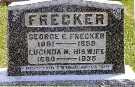 FRECKER, LUCINDA M - Meigs County, Ohio | LUCINDA M FRECKER - Ohio Gravestone Photos