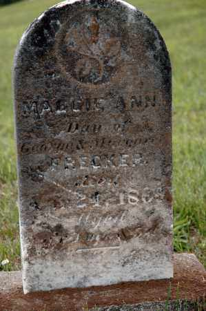 "FRECKER, MARGARETTA ""MAGGIE ANN"" - Meigs County, Ohio 