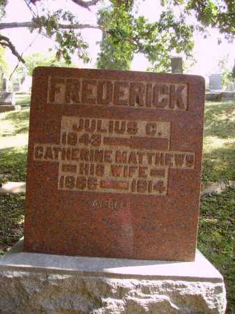 FREDERICK, JULIUS C. - Meigs County, Ohio | JULIUS C. FREDERICK - Ohio Gravestone Photos