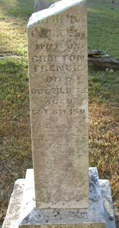 FRENCH, AMANDA CARTER - Meigs County, Ohio | AMANDA CARTER FRENCH - Ohio Gravestone Photos